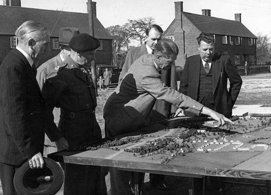 Vice Presidents Field Marshal Lord Montgomery at Enham Alamein in 1948