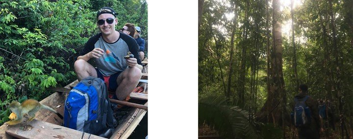 Matt in the Amazon jungle
