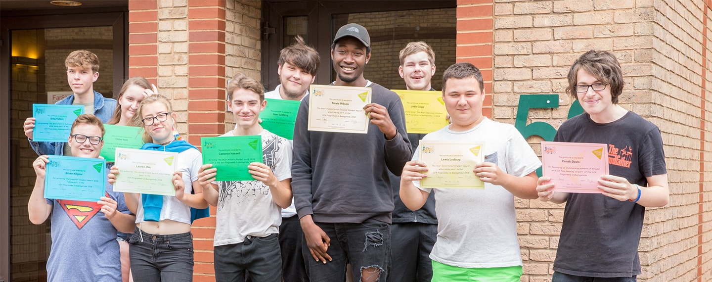 Skills2Achieve learners with certificates