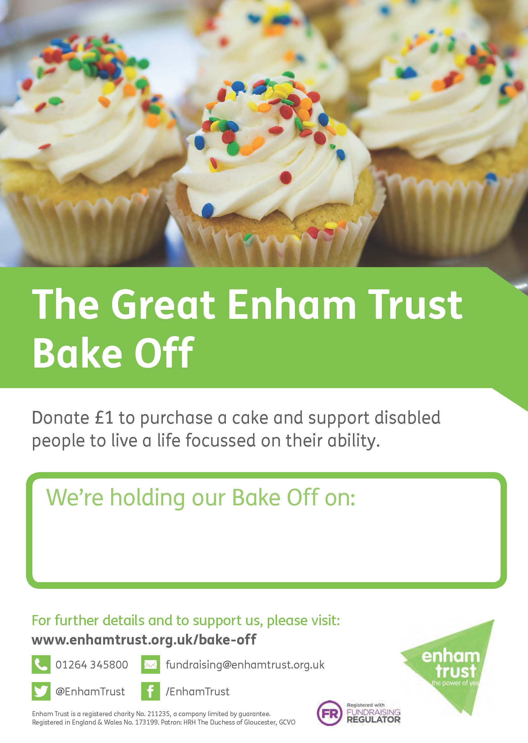 Download the Great Enham Bake Off poster