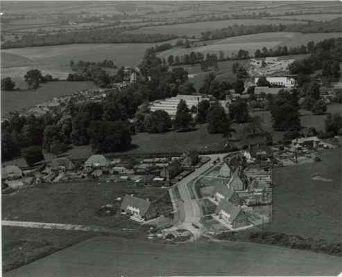 Aerial view of Enham Alamein in 1950