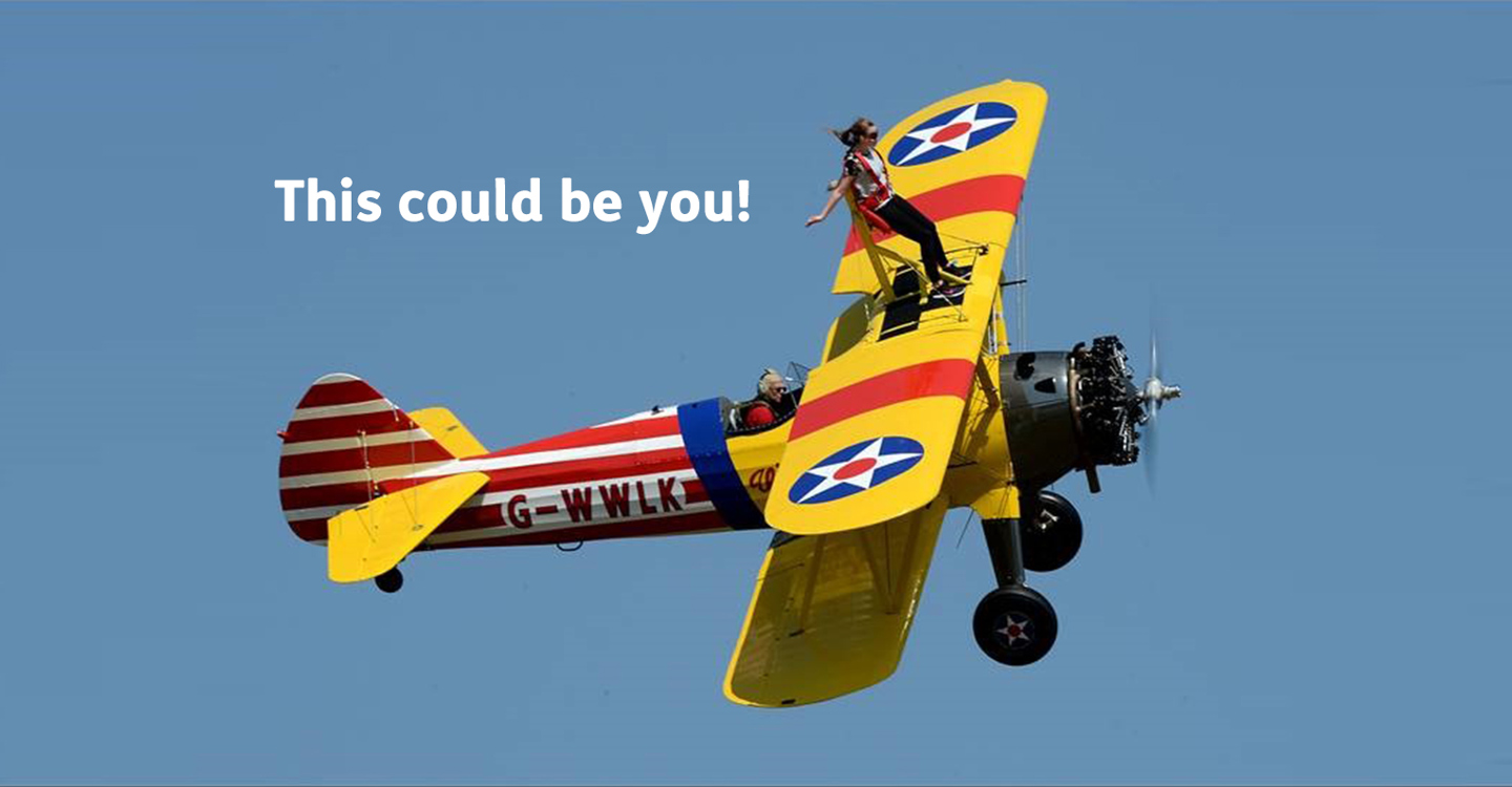 Walk on the windy side with a wing walk